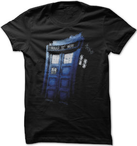 Dr. Who Faded Tardis T-Shirt