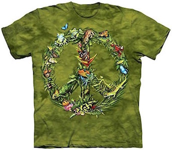 Rainforest Peace Sign T-Shirt