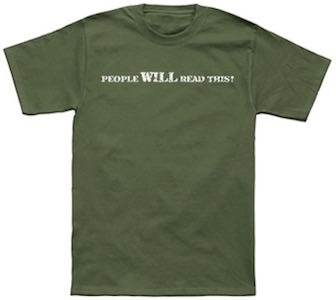 People Will Read This T-Shirt