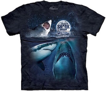 Sharks And The Moon Shark Week T-Shirt