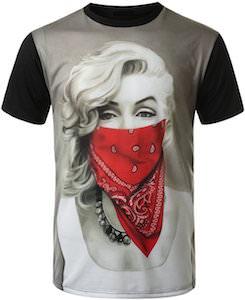 Girl Wearing A Bandana Mask T-Shirt