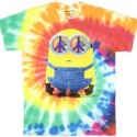Peace Hippie Minion Tie Die T-Shirt