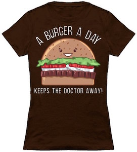 A Burger A Day Keeps The Doctor Away T-Shirt