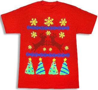 Reindeer Ugly Christmas Sweater T-Shirt