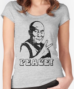Dalai Lama Peace Sign T-Shirt