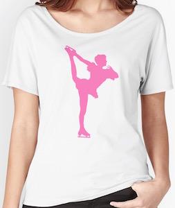 Pink Figure Skater T-Shirt