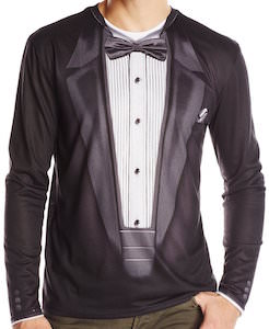 Faux Long Sleeve Tuxedo T-Shirt