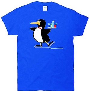 Skating Penguin Bartender T-Shirt