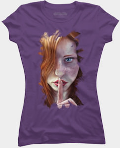 Shhh Portrait T-Shirt