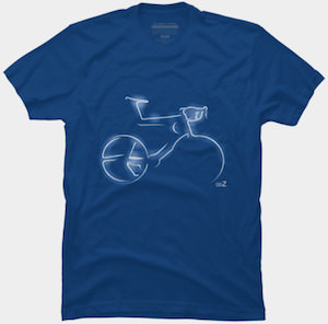 Glowing Bicycle T-Shirt