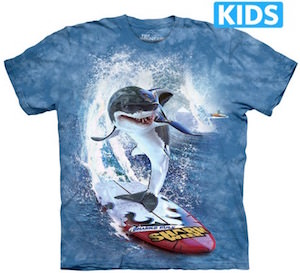 Surfing Shark Kids T-Shirt