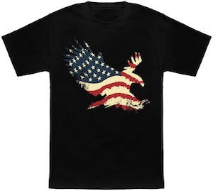 American Flag In Eagle Shape T-Shirt