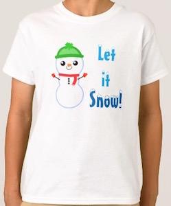 Snowman Kids Let Is Snow! T-Shirt