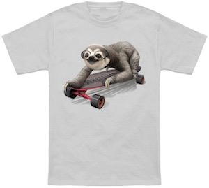 Skateboarding Sloth T-Shirt