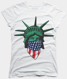 Statue Of Liberty Wearing A Bandana T-Shirt
