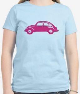 Pink Volkswagen Beetle T-Shirt