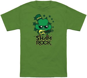 St Patrick's Day Rocking Shamrock T-Shirt