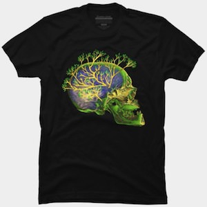 Skull Branching Out T-Shirt