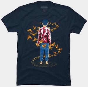Birds Fly Around Him T-Shirt