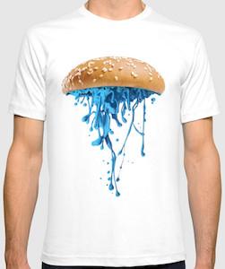 Blue Jellyfish Burger T-Shirt