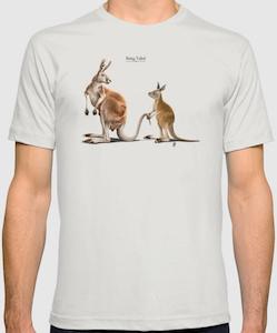 Kangaroo Being Followed T-Shirt