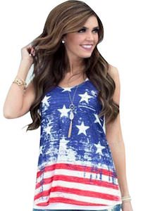 Stars And Strips Flag Tank Top