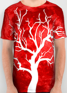 Blood Moon And Tree T-Shirt