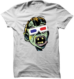 Zombie With 3D Glasses T-Shirt