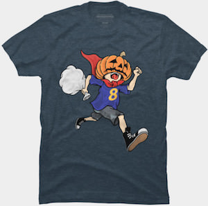 Pumpkin Head Running Boy T-Shirt