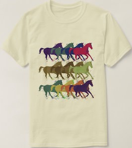 Spray Painted Horses T-Shirt