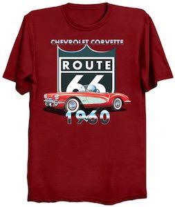 1960 Corvette Route 66 T-Shirt