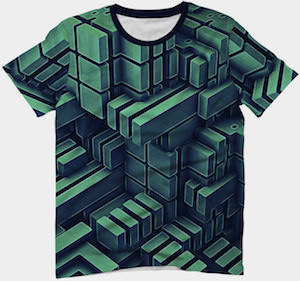 Blocks Of Green T-Shirt