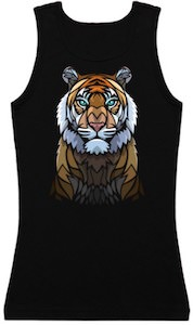 Tiger In Glass Tank Top