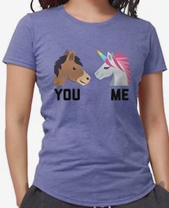 Horse VS Unicorn Is Like You VS Me T-Shirt