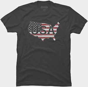 USA Map With Flag T-Shirt