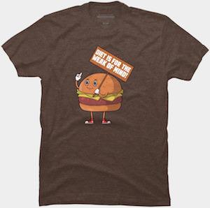 Hamburger Protesting Dieters T-Shirt