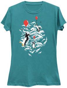 Floating Penguins T-Shirt