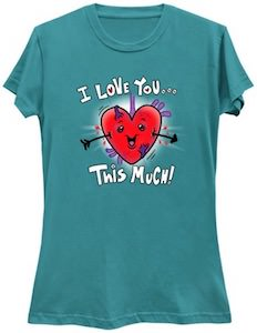 Heart I Love You This Much T-Shirt