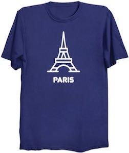 Eiffel Tower Of Paris T-Shirt