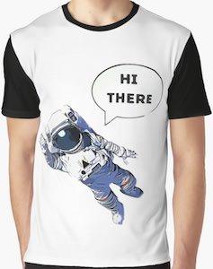 Astronaut Saying Hi There T-Shirt