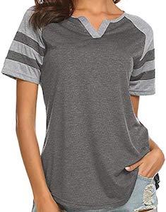 Two Color V-Neck T-Shirt
