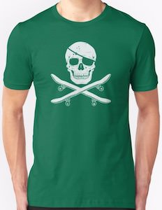 Skateboard Pirate T-Shirt