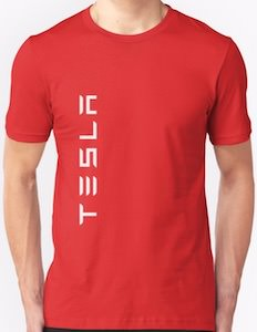 Vertical Tesla Logo T-Shirt