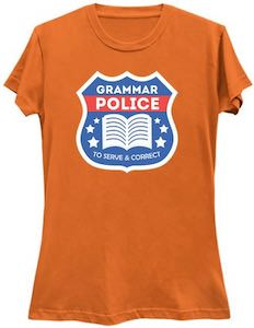 Grammar Police Badge T-Shirt