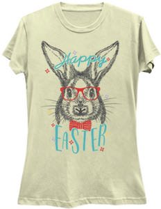 Nerdy Bunny Happy Easter T-Shirt