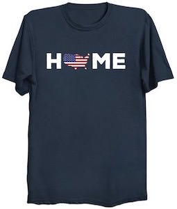 US Flag Home T-Shirt