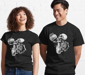 Drunk Skeleton T-Shirt