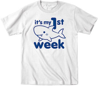It's My 1st Shark Week toddler T-Shirt