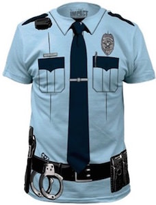 Police Officer Costume T-Shirt