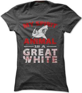 My Spirit Animal is a Great White Shark T-Shirt